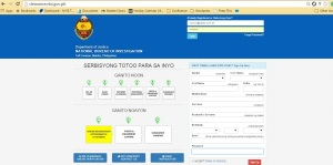 NBI Clearance Website Welcome Page